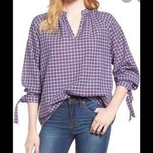 Madewell Small Tie Sleeve popover 41F